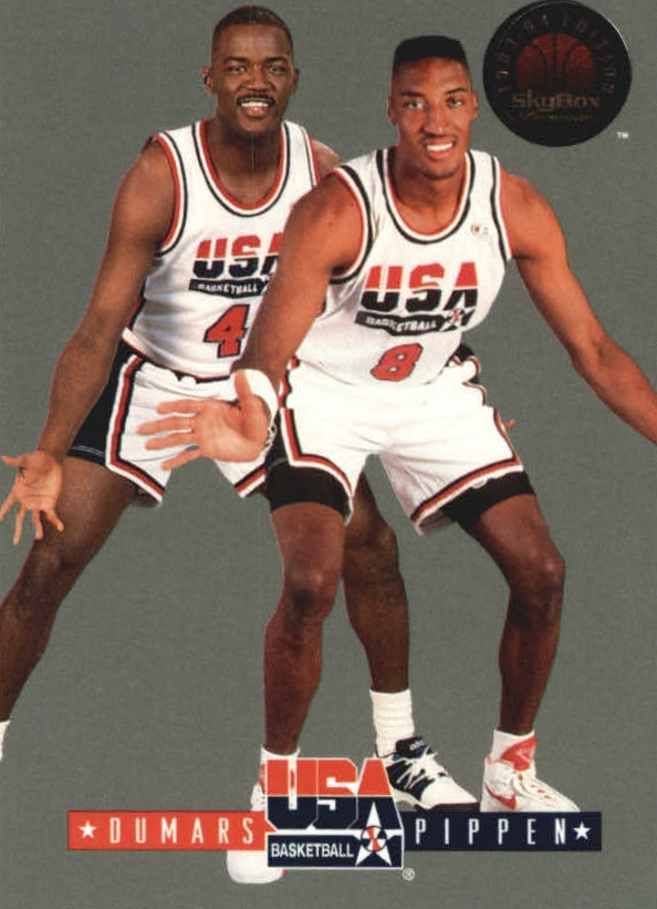 1993-94 SkyBox Premium USA Tip-Off #9 Joe Dumars/Scottie Pippen