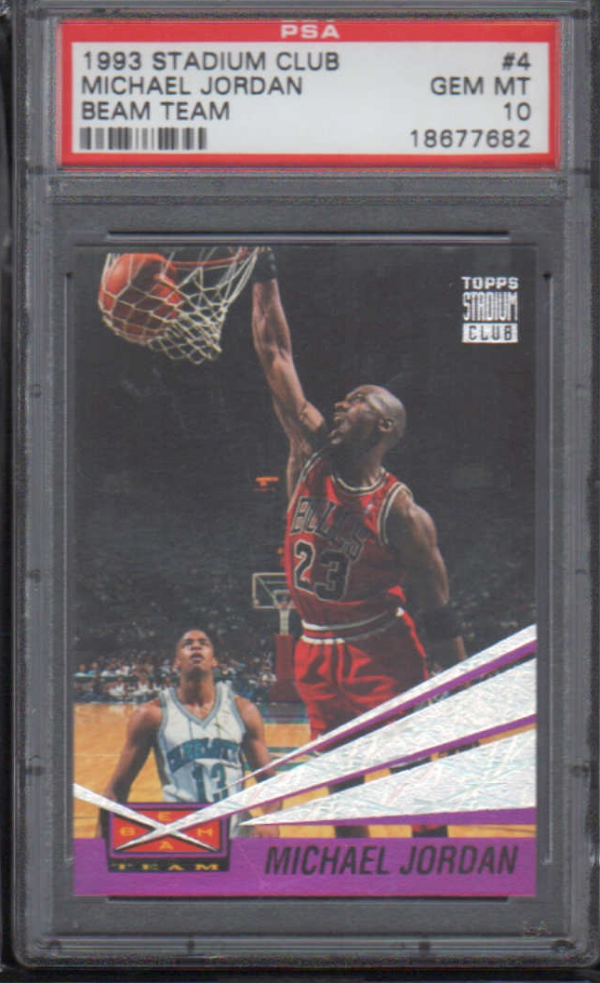 1993-94 Stadium Club Beam Team #4 Michael Jordan