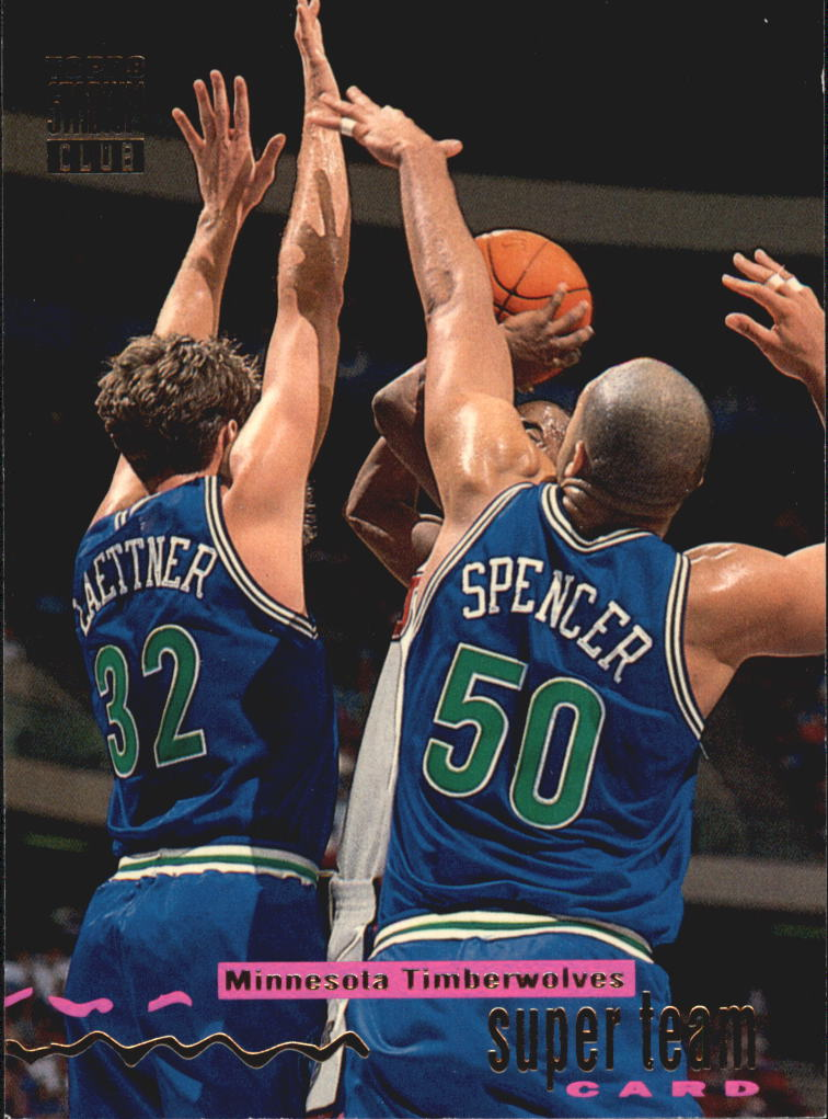 1993-94 Stadium Club Super Teams #16 Minnesota Timberwolves/(Christian Laettner/Felton Spencer)