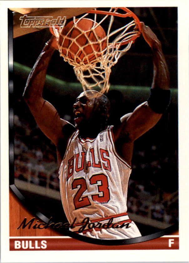 1993-94 Topps Gold #23G Michael Jordan UER/(Listed as a forward with birthdate/of 1968; he is a guard with/bithdate of 1963)
