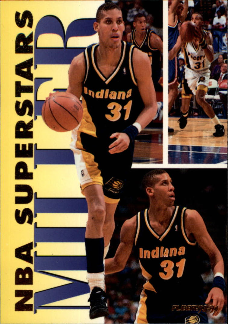 1993-94 Fleer NBA Superstars #12 Reggie Miller