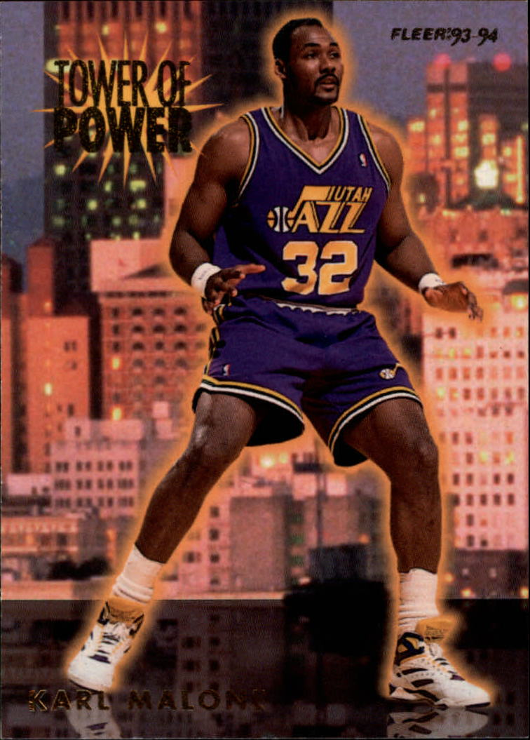 1993-94 Fleer Towers of Power #13 Karl Malone