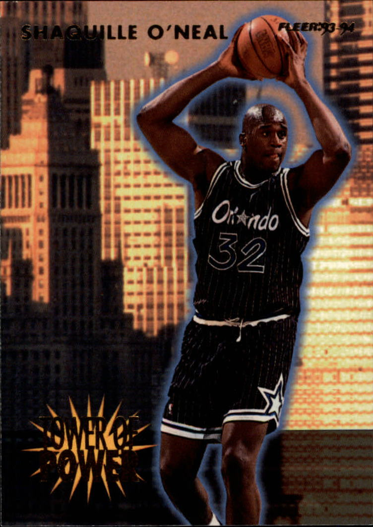 1993-94 Fleer Towers of Power #21 Shaquille O'Neal