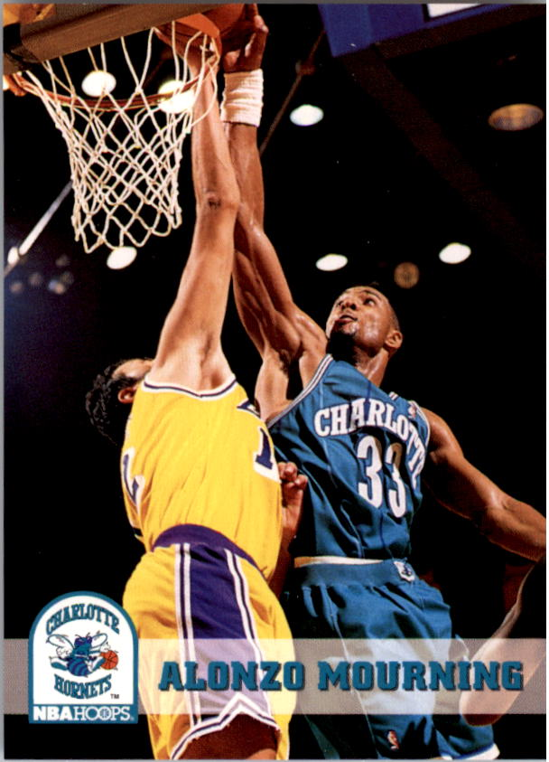 1993-94 Hoops #23 Alonzo Mourning