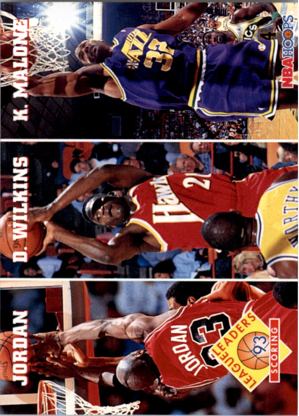 1993-94 Hoops #283 Michael Jordan/Dominique Wilkins/Karl Malone LL