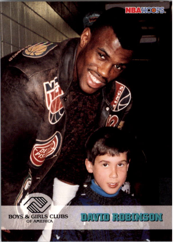 1993-94 Hoops #291 Boys and Girls Club/David Robinson