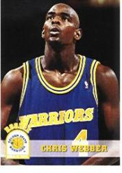 1993-94 Hoops #341 Chris Webber RC