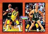 1993-94 Hoops #MB1 Magic Johnson/Larry Bird/Commemorative front image