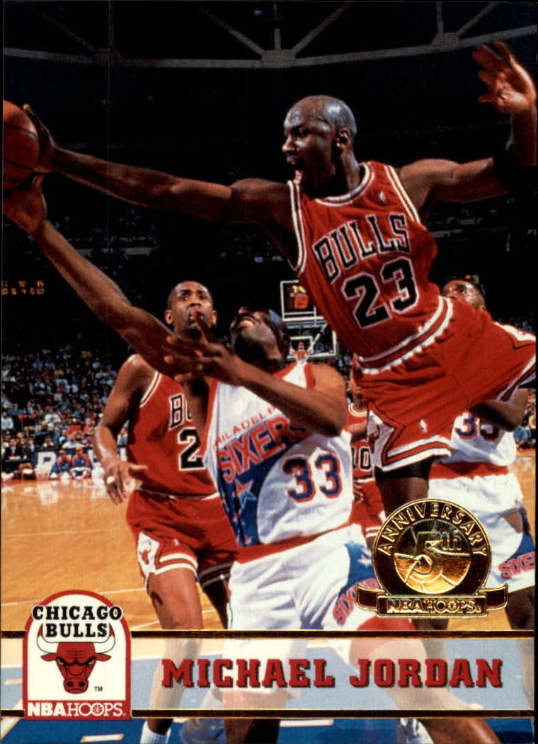 1993-94 Hoops Fifth Anniversary Gold #28 Michael Jordan
