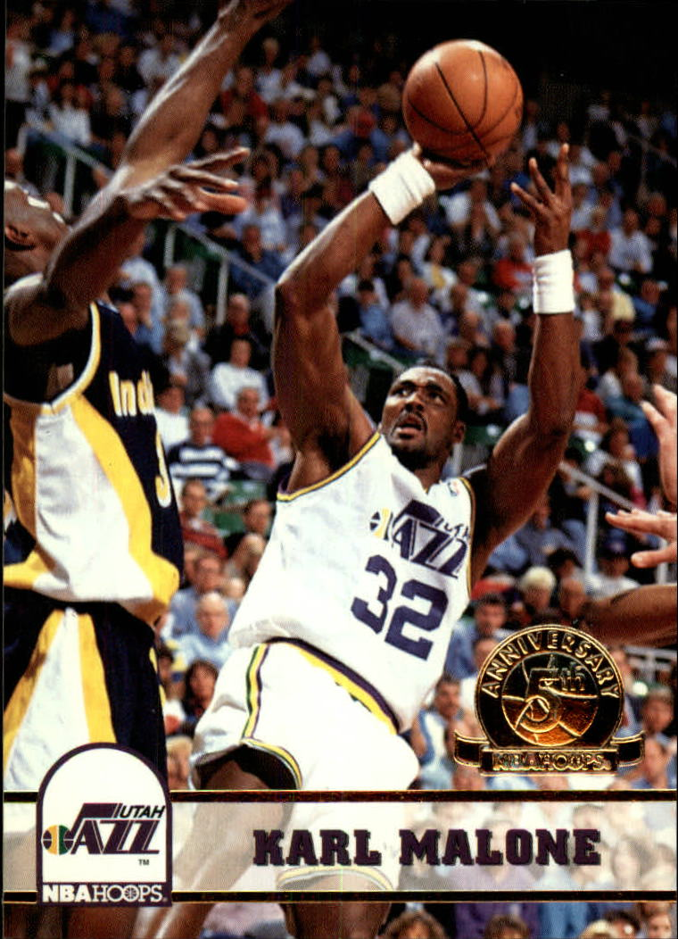 1993-94 Hoops Fifth Anniversary Gold #218 Karl Malone front image