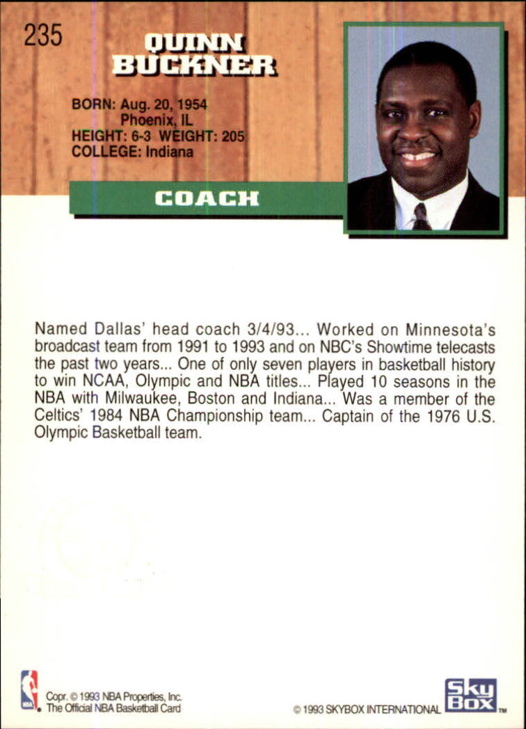 1993-94 Hoops Fifth Anniversary Gold #235 Quinn Buckner CO