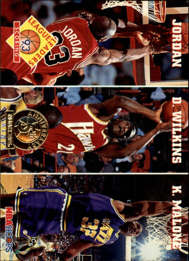 1993-94 Hoops Fifth Anniversary Gold #283 Scoring/Michael Jordan/Dominique Wilkins/Karl Malone