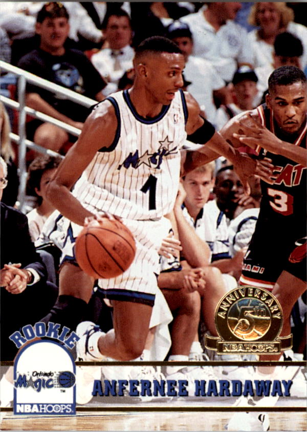 1993-94 Hoops Fifth Anniversary Gold #380 Anfernee Hardaway