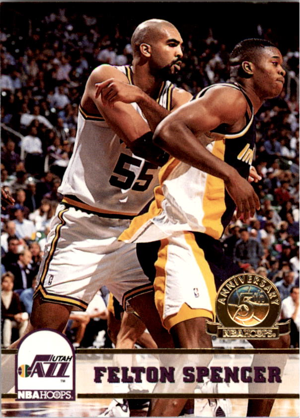 1993-94 Hoops Fifth Anniversary Gold #414 Felton Spencer