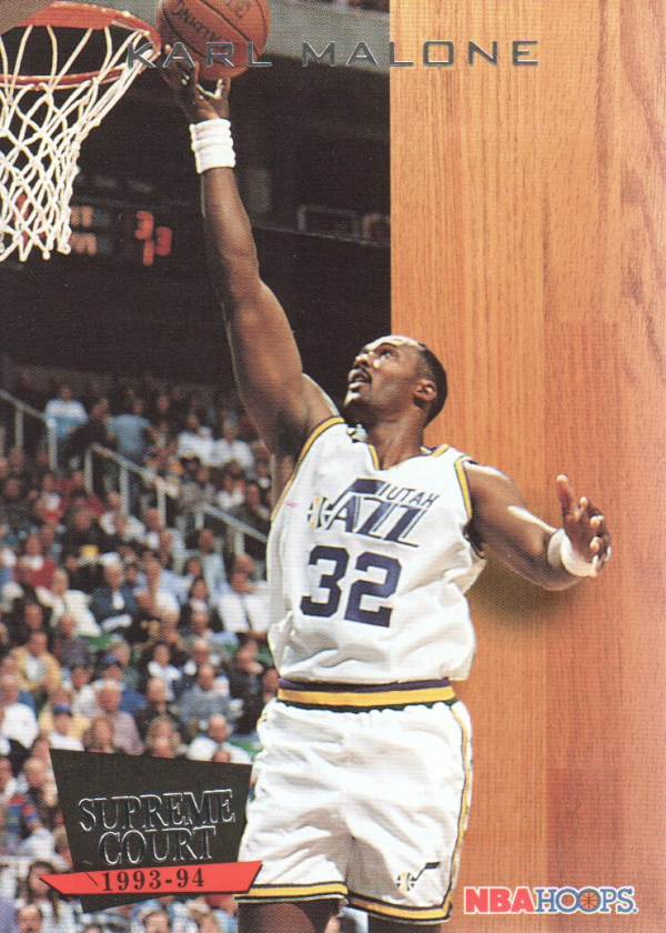1993-94 Hoops Supreme Court #SC6 Karl Malone