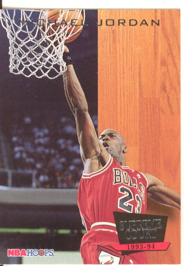 1993-94 Hoops Supreme Court #SC11 Michael Jordan