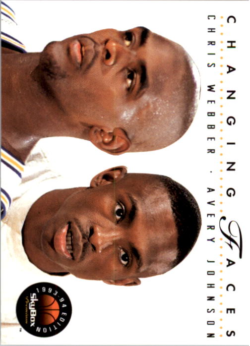 1993-94 SkyBox Premium #300 Chris Webber CF/Avery Johnson