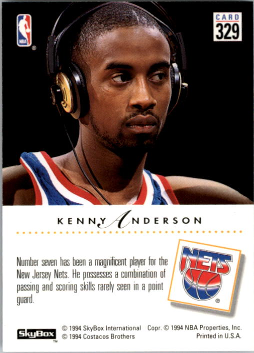 1993-94 SkyBox Premium #329 Kenny Anderson PC
