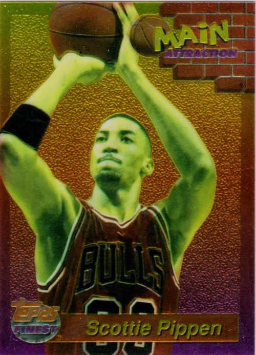 1993-94 Finest Main Attraction #4 Scottie Pippen