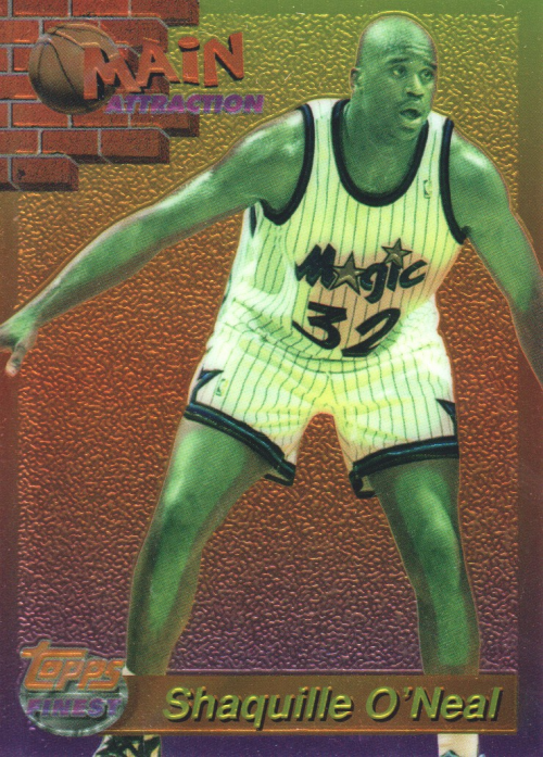 1993-94 Finest Main Attraction #19 Shaquille O'Neal