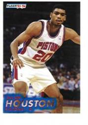 1993-94 Fleer #282 Allan Houston RC