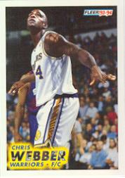 1993-94 Fleer #292 Chris Webber RC