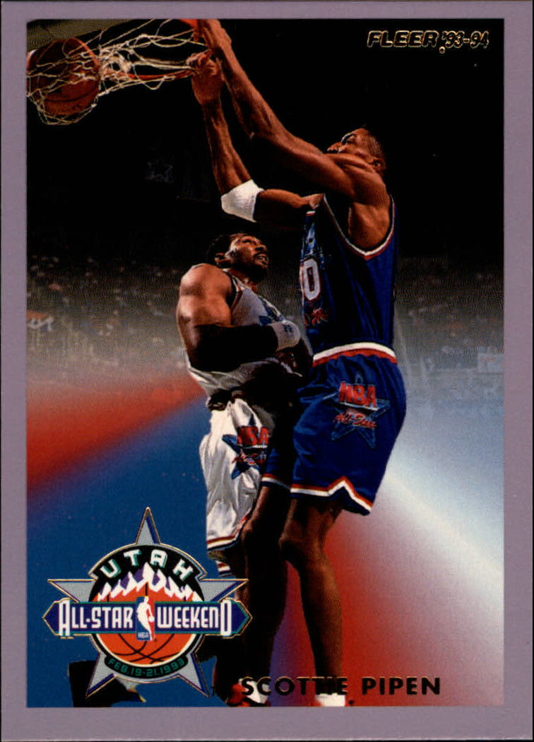 1993-94 Fleer All-Stars #8 Scottie Pippen UER/(Name spelled Pipen on front)