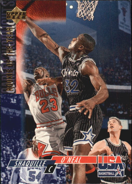 1994 Upper Deck USA #50 Shaquille O'Neal/1993 Rookie of The Year