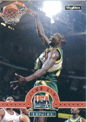 1994 SkyBox USA #17 Shawn Kemp/Trademark Move