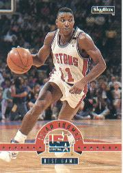 1994 SkyBox USA #45 Isiah Thomas/Best Game