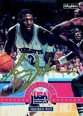 1994 SkyBox USA Autographs #11A Larry Johnson