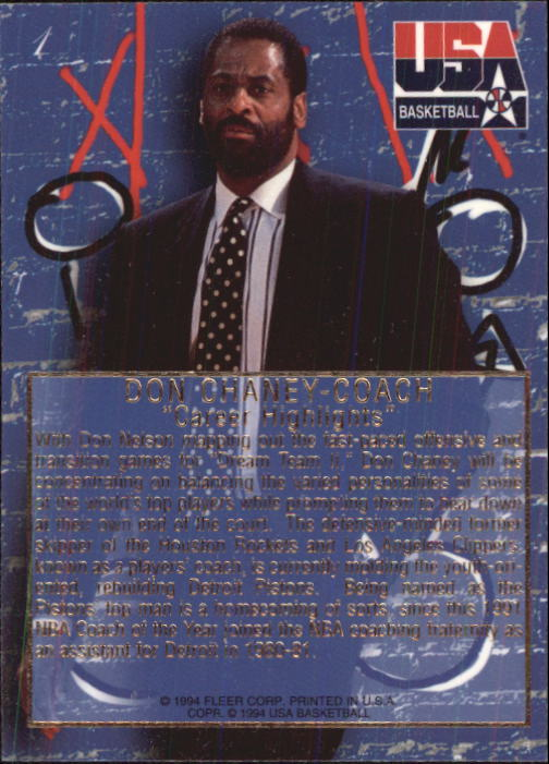 1994 Flair USA #1 Don Chaney CO/Career Highlights