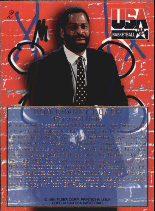 1994 Flair USA #2 Don Chaney CO/Personal Note