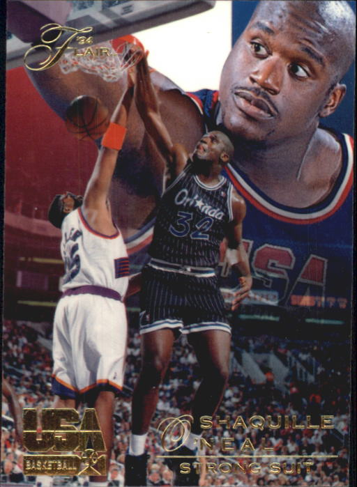 1994 Flair USA #73 Shaquille O'Neal/Strong Suit