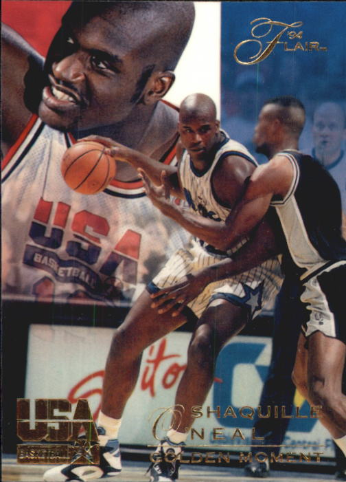 1994 Flair USA #75 Shaquille O'Neal/Golden Moment
