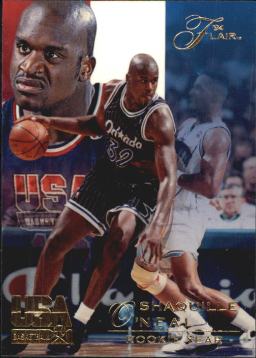 1994 Flair USA #77 Shaquille O'Neal/Rookie Year
