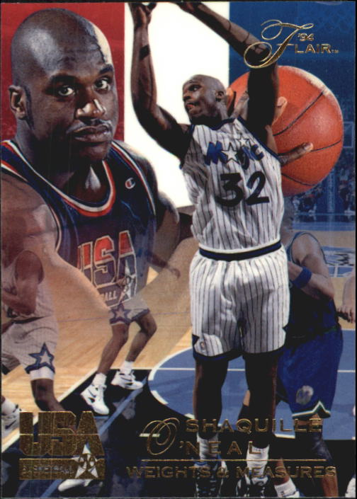 1994 Flair USA #78 Shaquille O'Neal/Weights and Measures