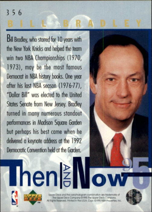 1994-95 Upper Deck #356 Bill Bradley TN back image