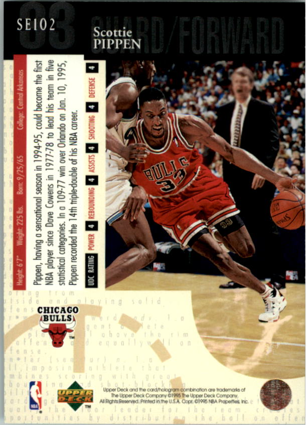 1994-95 Upper Deck Special Edition #102 Scottie Pippen back image