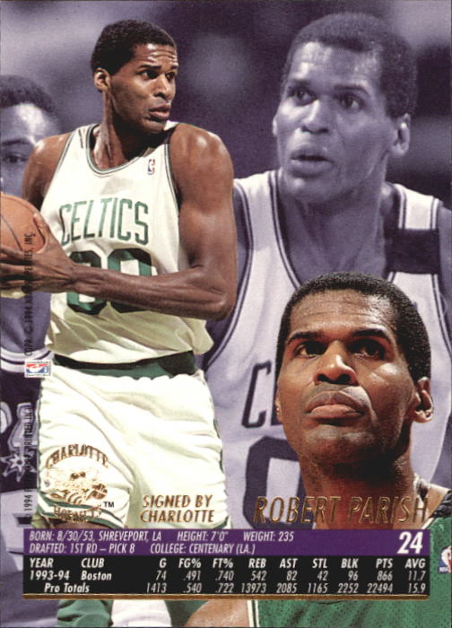 1994-95 Ultra #24 Robert Parish back image