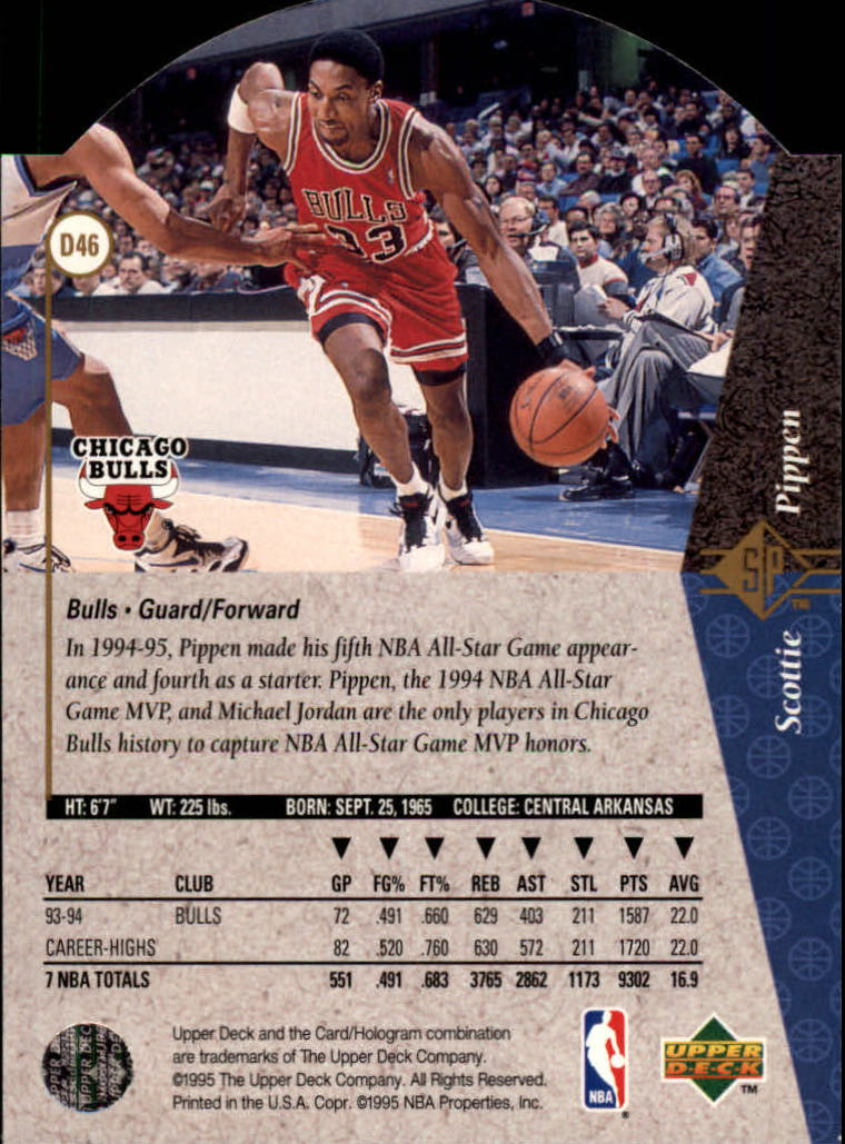 1994-95 SP Die Cuts #D46 Scottie Pippen back image