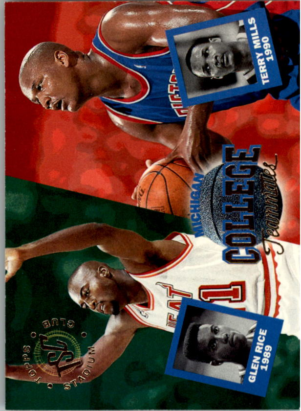 1994-95 Stadium Club #111 Terry Mills CT/Glen Rice CT