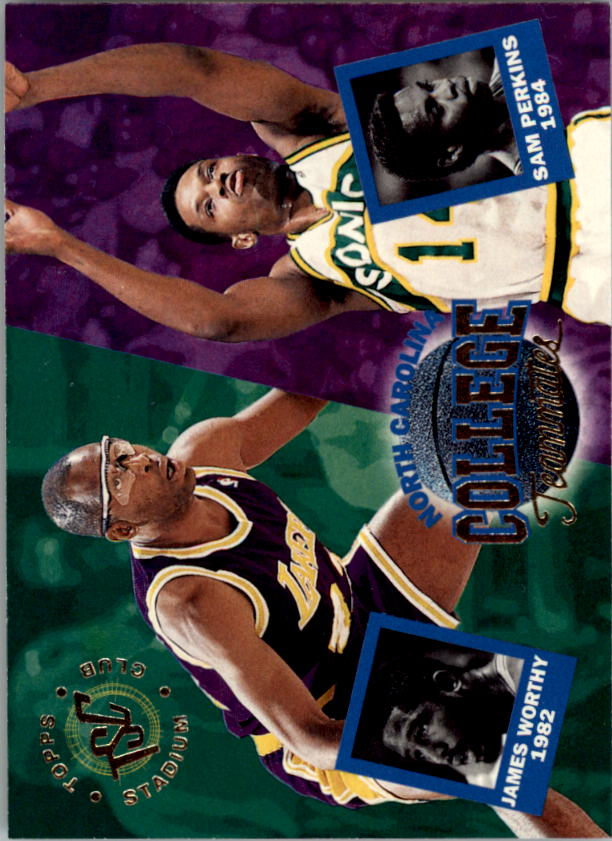 1994-95 Stadium Club #114 Sam Perkins CT/James Worthy CT