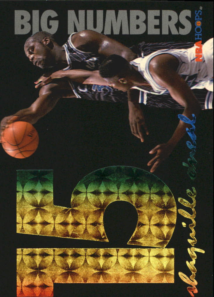 1994-95 Hoops Big Numbers Rainbow #5 Shaquille O'Neal