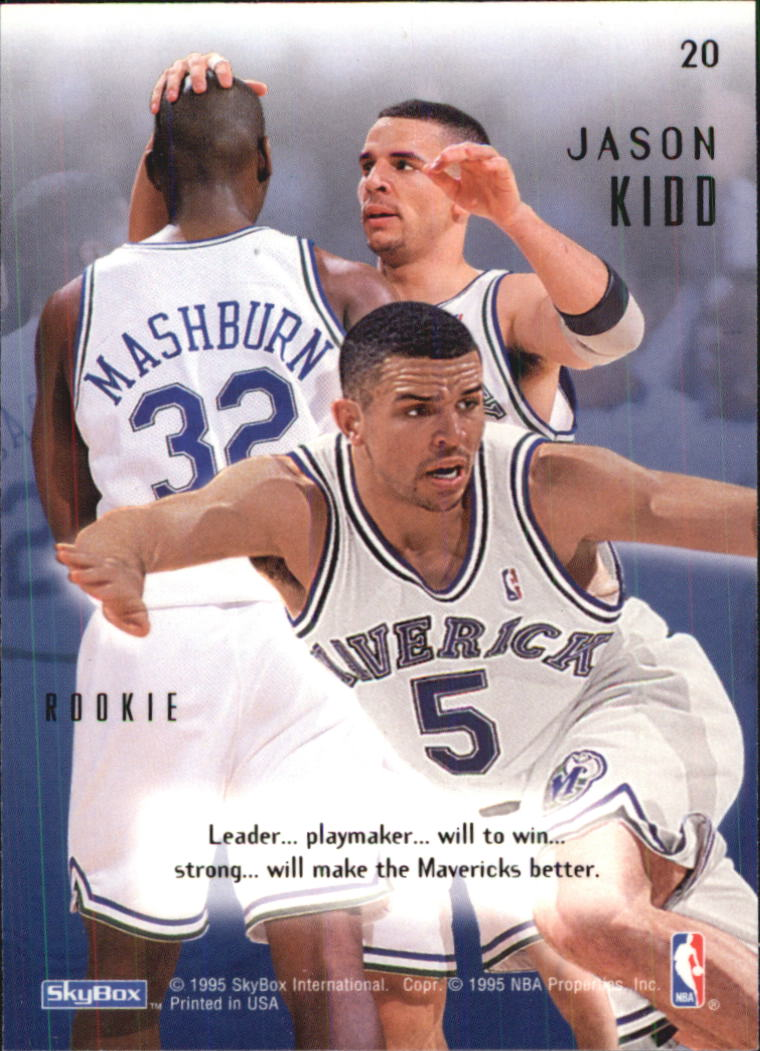 1994-95 Emotion #20 Jason Kidd RC back image