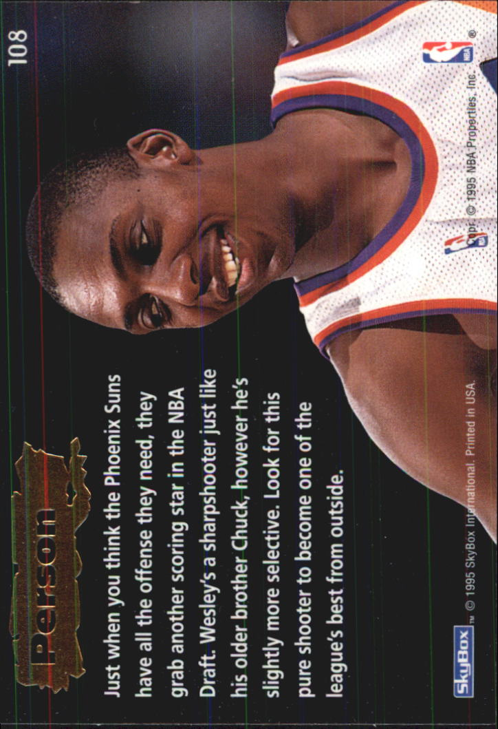 1994-95 Emotion #108 Wesley Person ROO