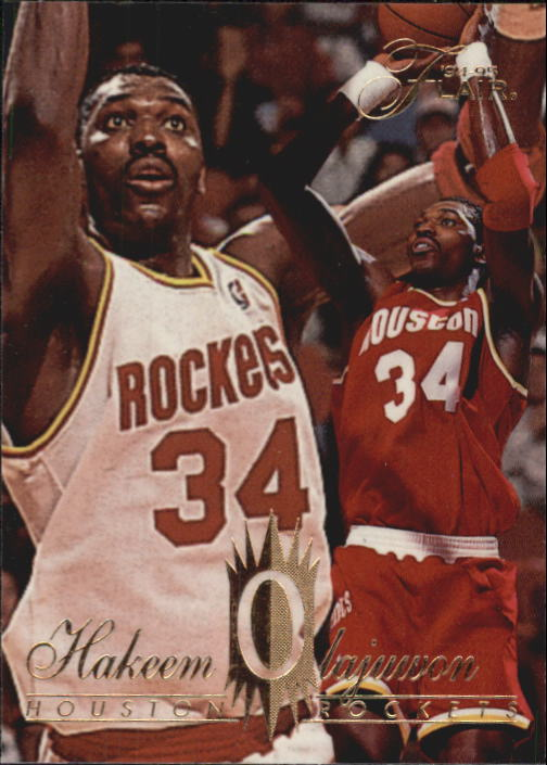 1994-95 Flair #57 Hakeem Olajuwon
