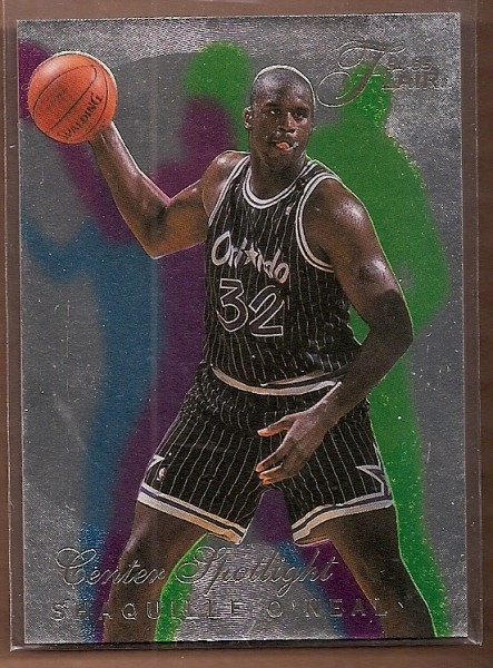 1994-95 Flair Center Spotlight #4 Shaquille O'Neal