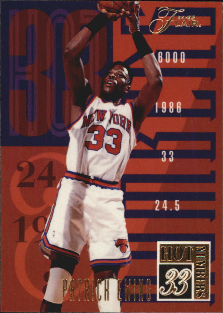 1994-95 Flair Hot Numbers #3 Patrick Ewing