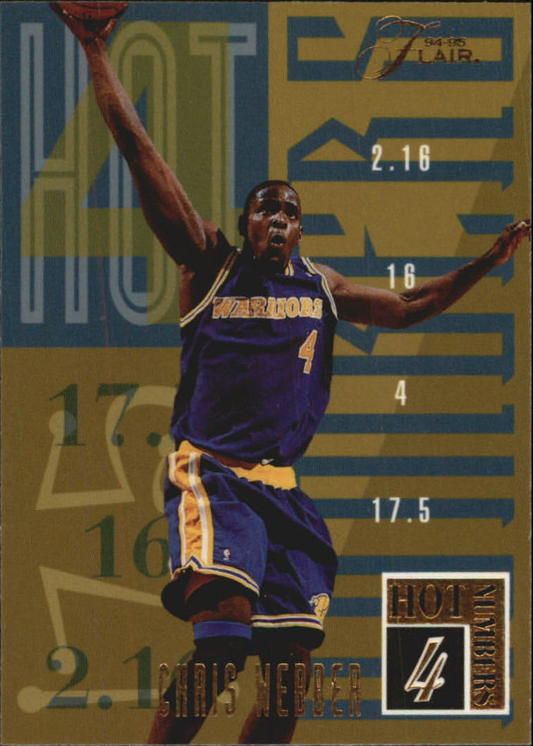 1994-95 Flair Hot Numbers #20 Chris Webber